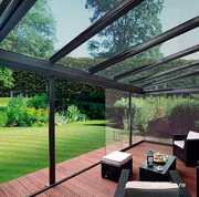 Алюминиевые раздвижные системы для террас и балконов.